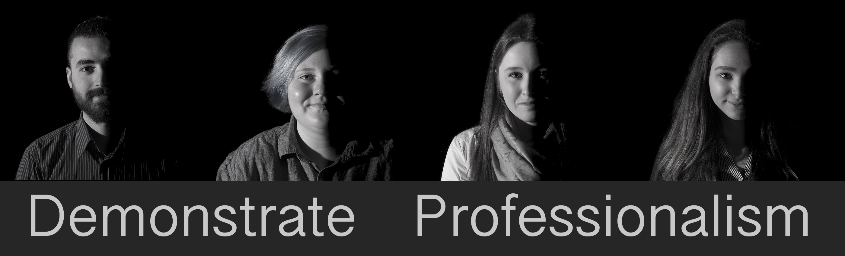 Demonstrate Professionalism Banner